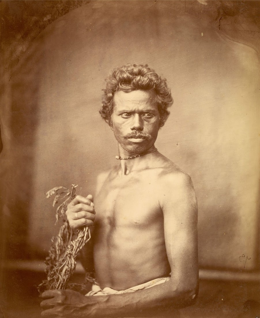 Portrait of a Man from Kaibartha Caste -  Eastern Bengal 1860's
