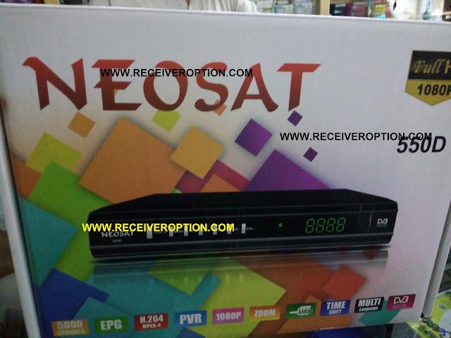 NEOSAT 550D HD RECEIVER BISS KEY OPTION