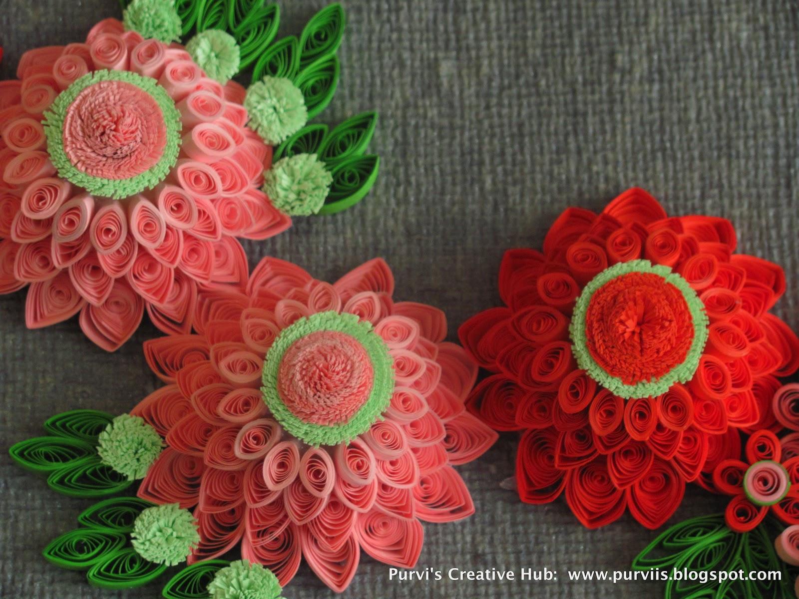 purvis creative hub 3d quilled dahlias