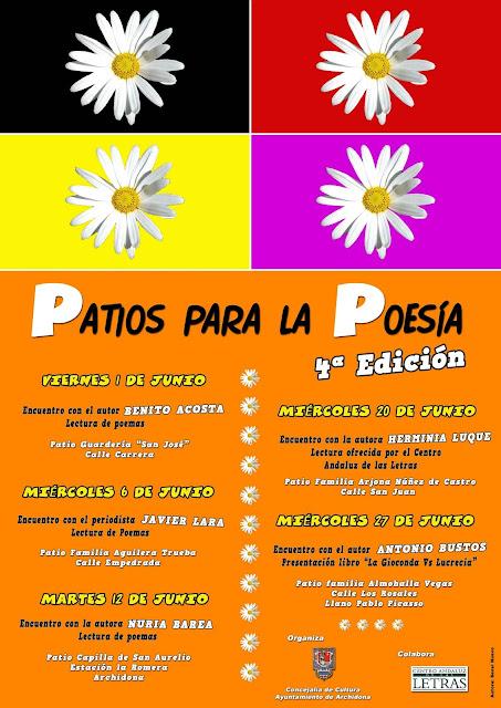 Cartel de la 4ª edición de Patios para la Poesía