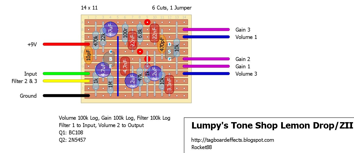 Guitar FX Layouts: Lumpy\'s Tone Shop Lemon Drop/ZII/Series 7