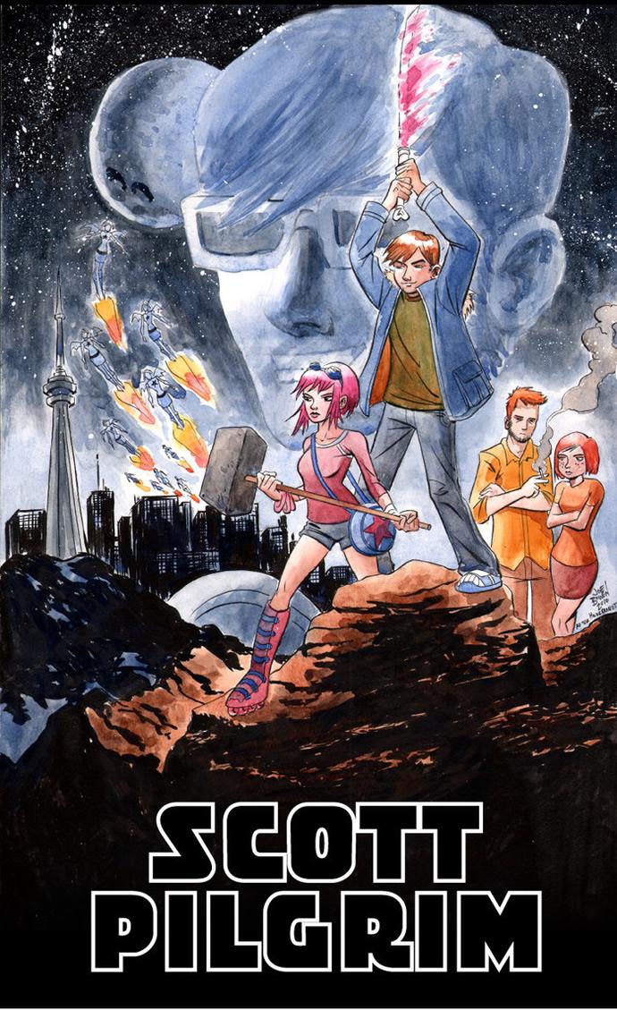 The Geeky Nerfherder: Movie Poster Art: Scott Pilgrim vs ...