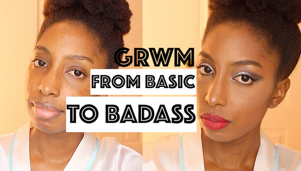 GRWM   From Basic to Badass (Glitter Makeup)