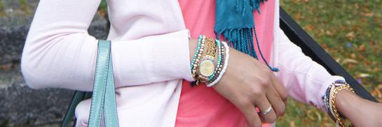 Summer Jewelry, Aqua bracelets