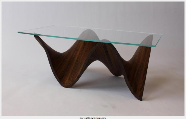 Great Glass Wood Coffee Table