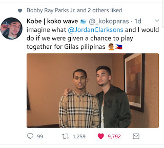 Kobe Paras and Jordan Clarkson the future of Philippine Basketball is now!
