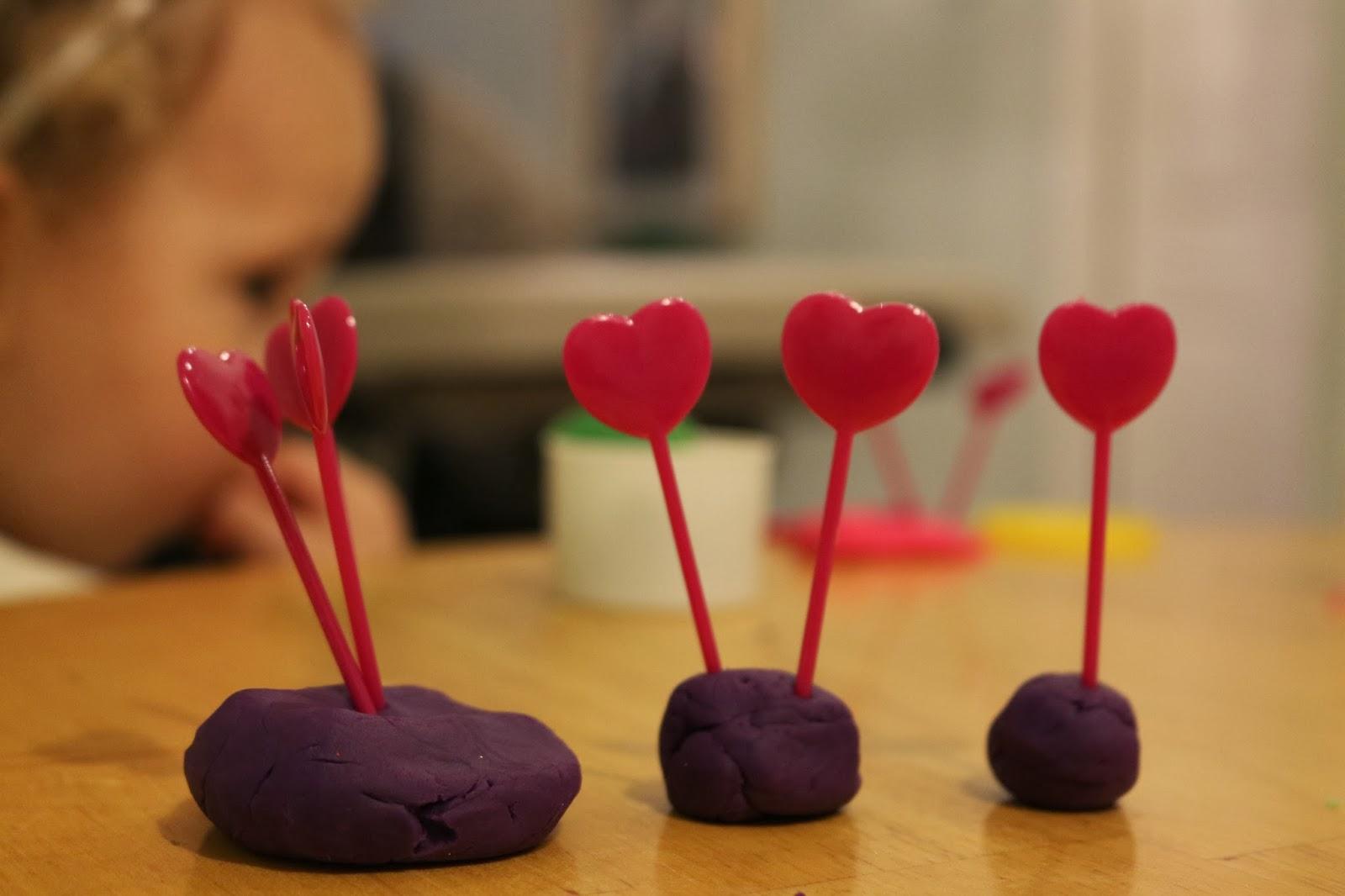 valentine's tot trays