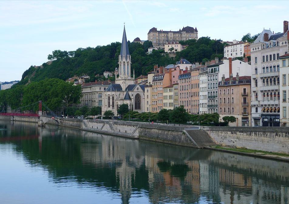 Les quais de Saône depuis le pont Bonaparte