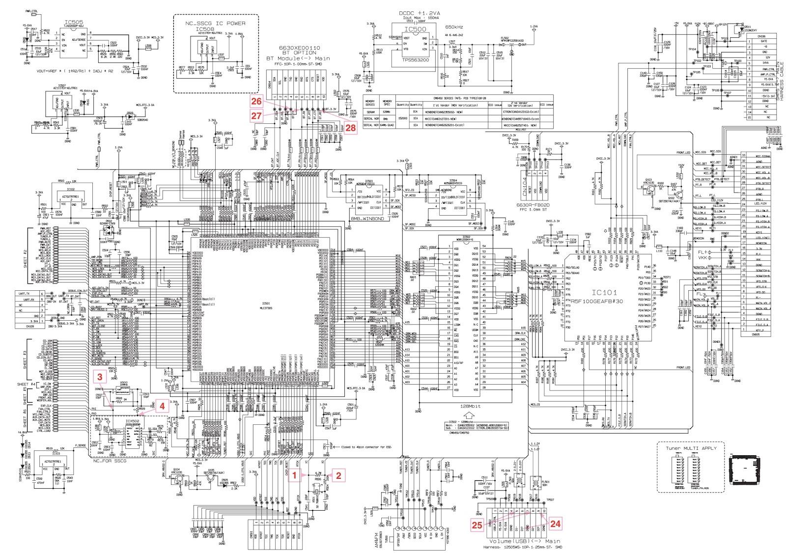 electro help  lg cm8450 troubleshooting and circuit diagram mini hi