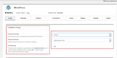 Cara Instal WordPress Dengan Softaculous Apps Installer