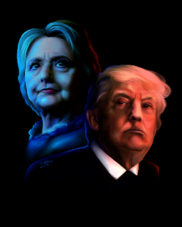 clinton and trump
