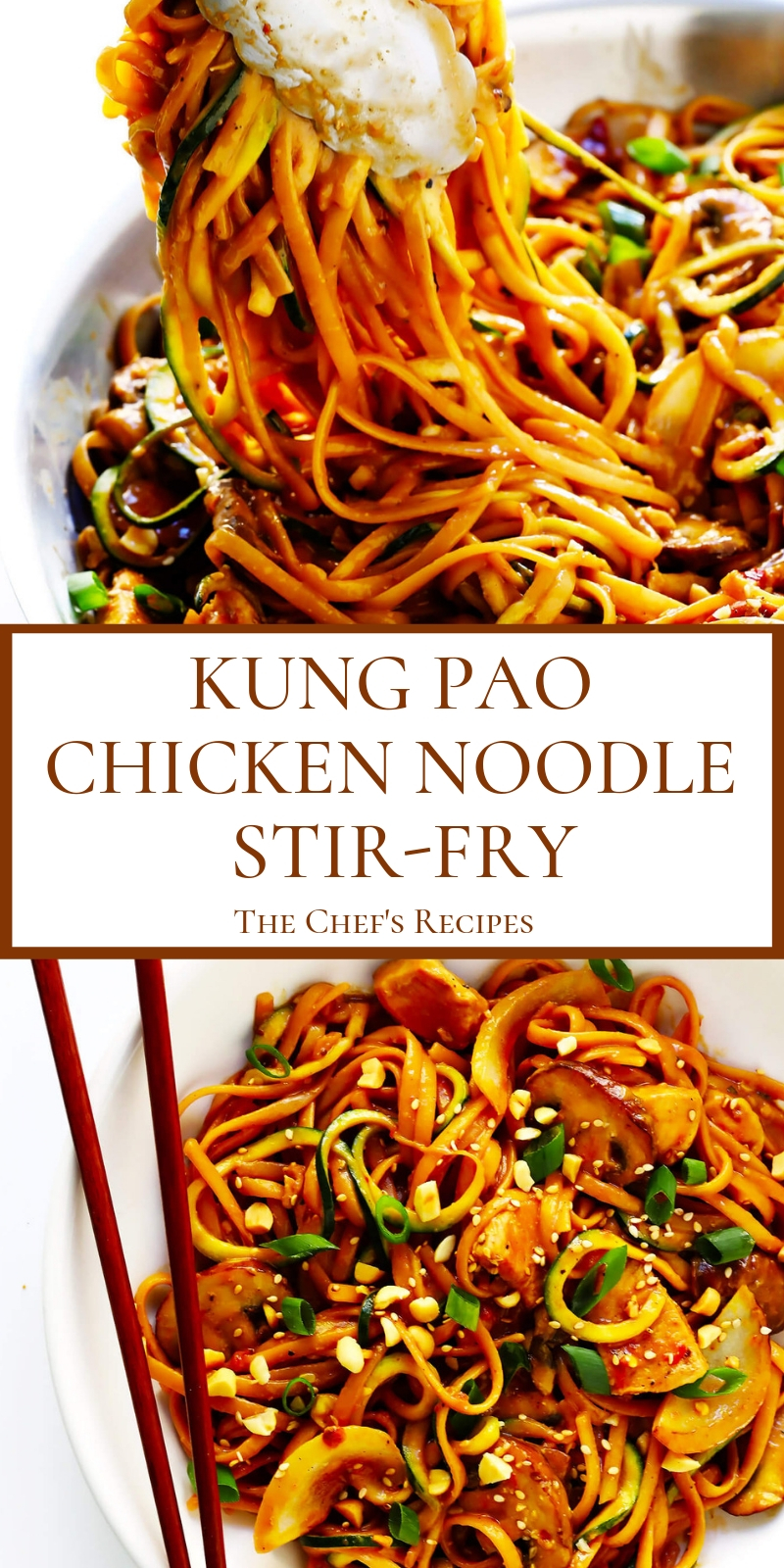 KUNG PAO CHICKEN NOODLE STIR-FRY