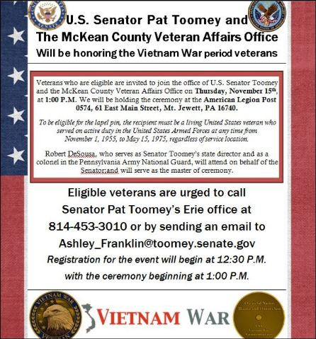 11-15 Ceremony for Vietnam War period Veterans