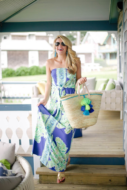 lilly pulitzer dress at Summercamp hotel on Martha's Vineyard
