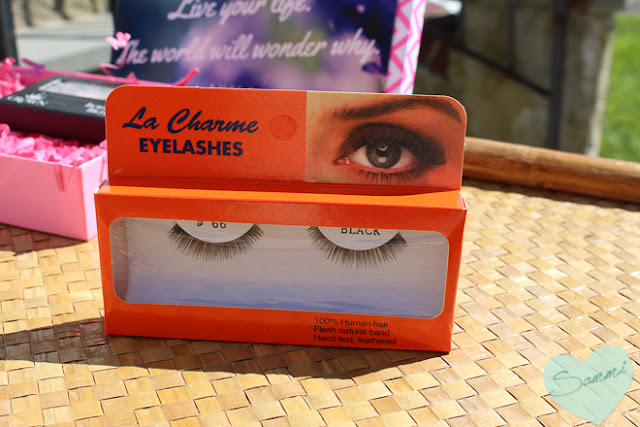 GARLAND BEAUTY PRODUCTS | La Charme Eyelashes in #E66 ($3) - Luxe Pineapple Box of Joy: Rock Pop & Wow GlossaryBox Review | Sammi the Beauty Buff