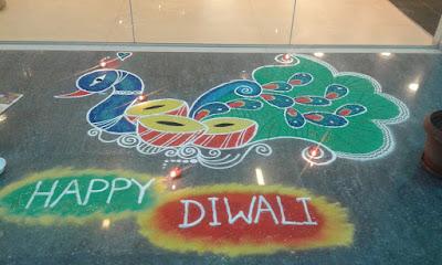 Peacock Rangolis for Diwali