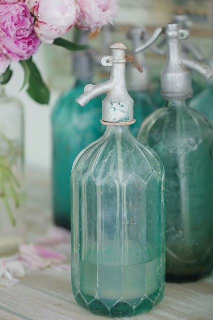 vintage faceted seltzer bottle