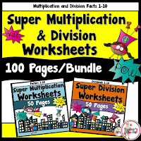 Super Bundle Worksheets for Multiplication and DIvision
