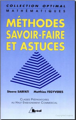 Livre : Mathématiques - méthodes, savoir-faire et astuces - Steeve Sarfati 1997
