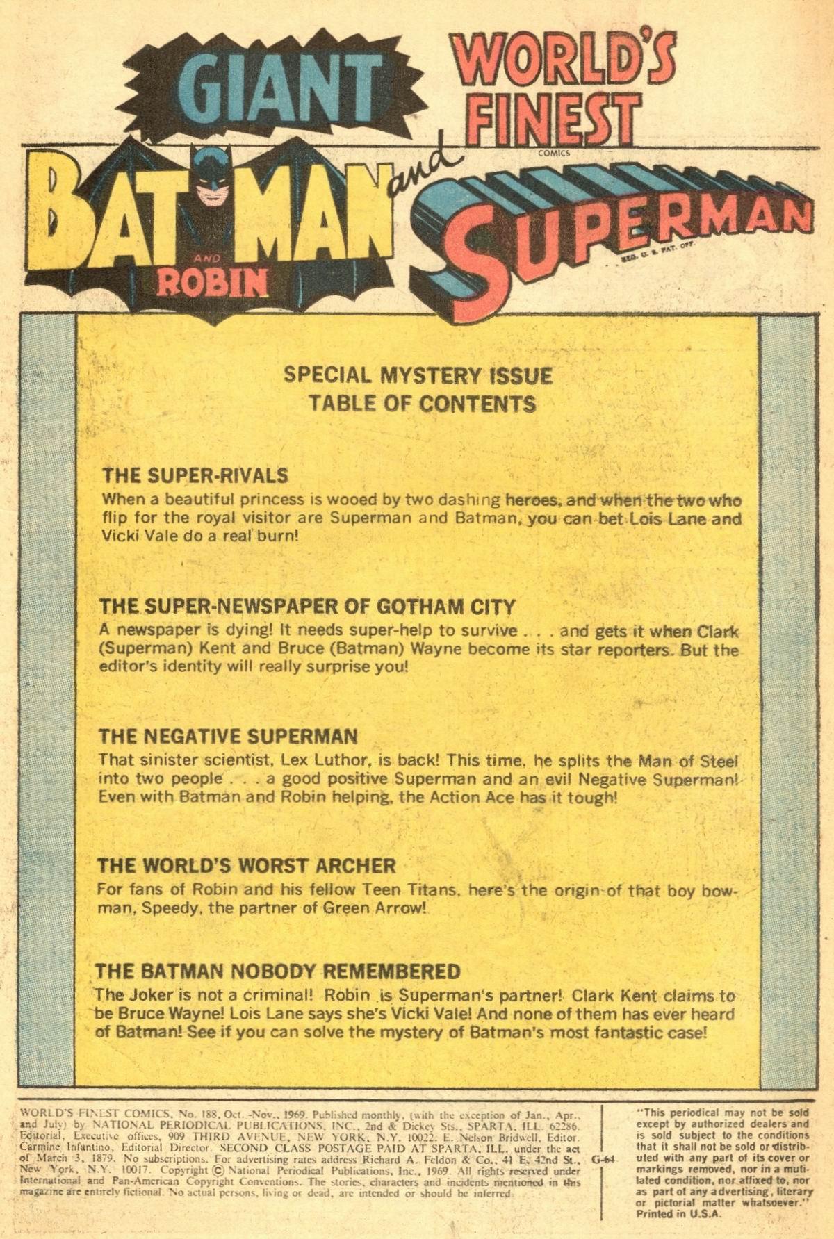 Read online World's Finest Comics comic -  Issue #188 - 3