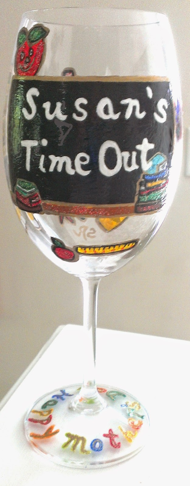 teacher gifts, teacher wine glasses