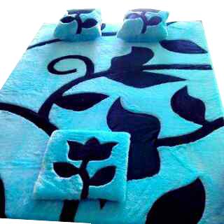 Karpet Bulu Motif daun