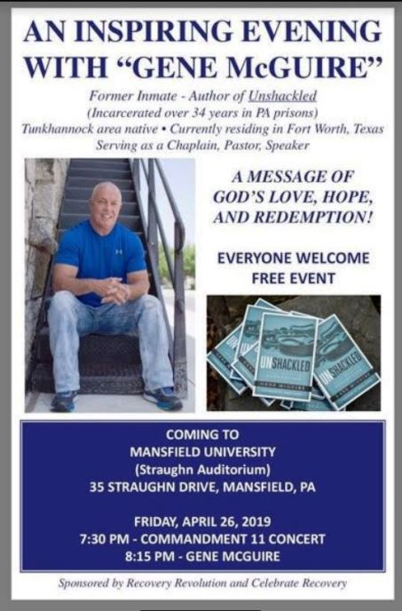 "4-26 AN INSPIRING EVENING WITH ""GENE McGUIRE"" AND COMMANDMENT 11"