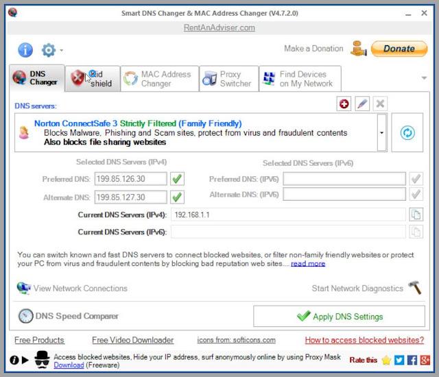 Smart DNS Changer : Προστατεύστε την περιήγησή σας στο διαδίκτυο  από ακατάλληλο περιεχόμενο