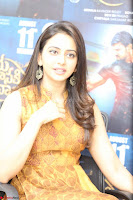 Rakul Preet Singh smiling Beautyin Brown Deep neck Sleeveless Gown at her interview 2.8.17 ~  Exclusive Celebrities Galleries 080.JPG