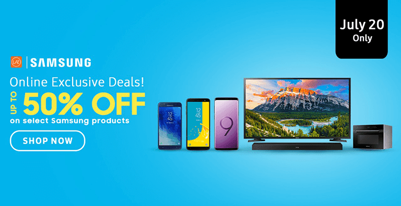 Lazada's Samsung Day will happen on July 20, enjoy up to 50 percent off!