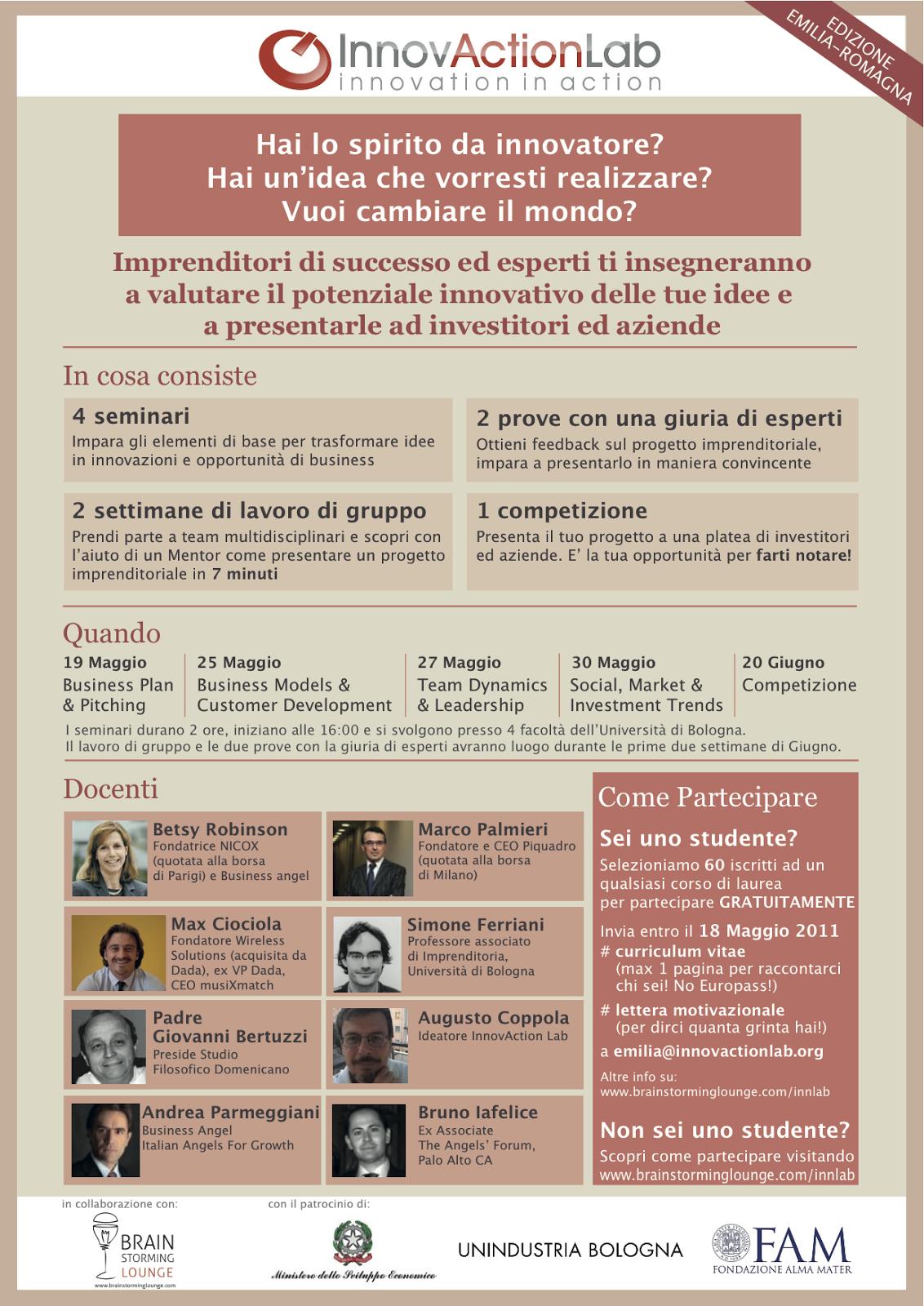 InnovActionLab Emilia Romagna Istituto Italiano Imprenditorialit