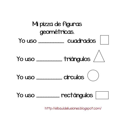 baul de ilusiones: Pizza de figuras geométricas