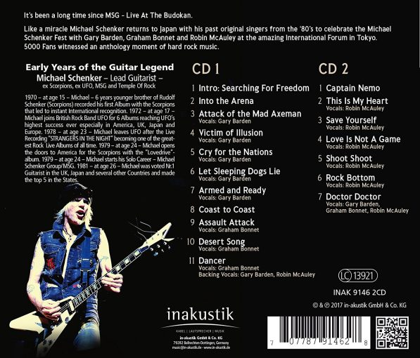 MICHAEL SCHENKER - Fest; Live Tokyo International Forum Hall A (2017) back