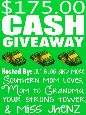 Enter the $175 Cash Giveaway. Ends 11/14