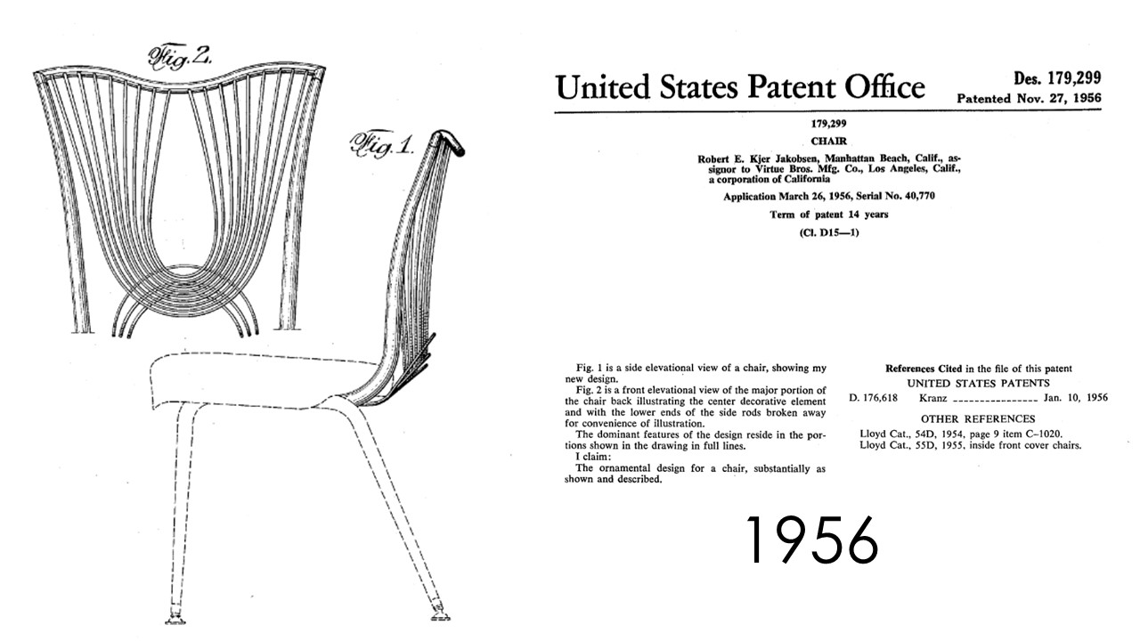 Chair Design Patent Mickey Mouse And Table Studio Garden Bungalow Mid Century Modern Furniture Robert Kjer The Backs Are Accented By Brass Plated Wires With Textured Vinyl Cushions For Easy Cleaning In A Busy Household Original This