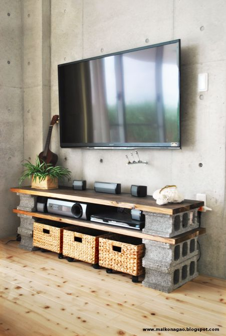 20 decoration ideas to make with concrete blocks 13