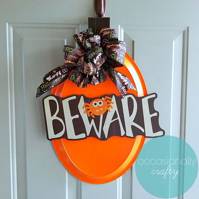 Dollar Store Halloween Crafts: Halloween Door Hanger