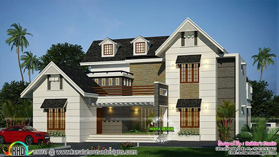 Modern dormer window home architecture