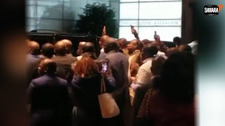 'You Can't Spoil Nigeria For The Second Time' — Protesters Disrupt Atiku's Meeting In US