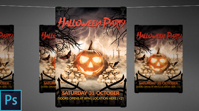 Video Tutorial: How to make a Halloween Flyer in Photoshop