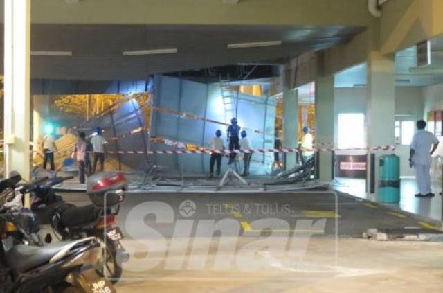 Siling Hospital Enche Besar Hajah Kalsom runtuh