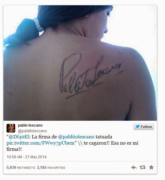 Conversación entre Pablo Lescano y el fanático del tatuaje trucho
