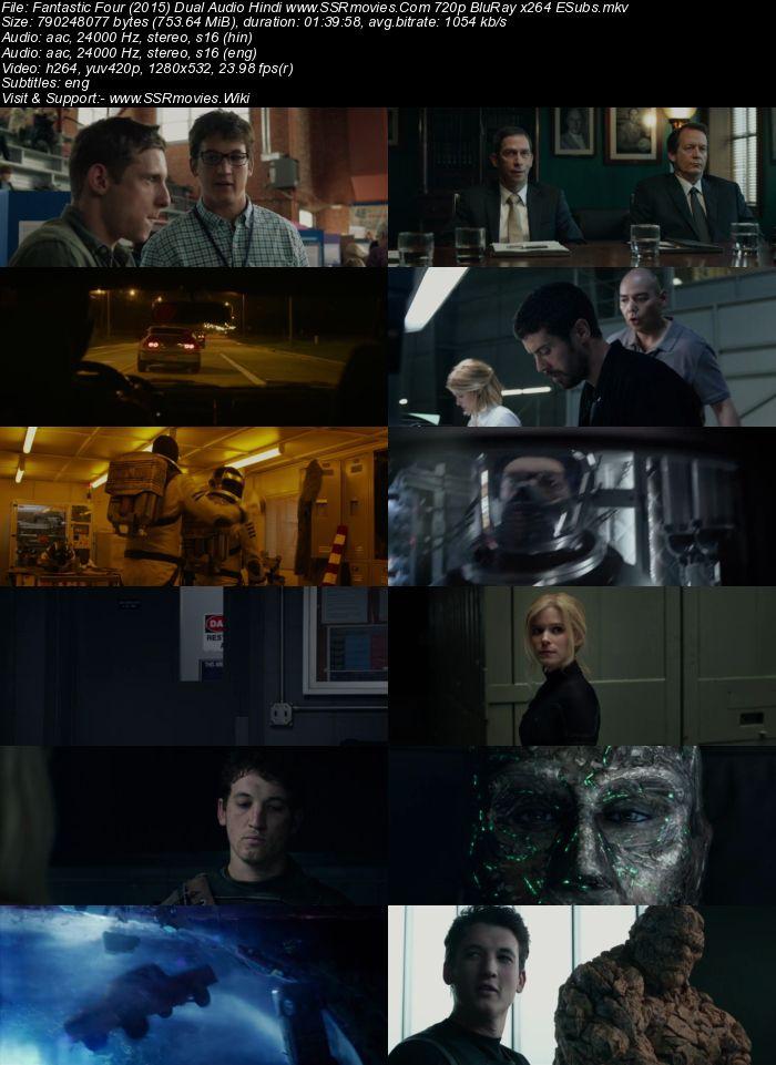 Fantastic Four (2015) Dual Audio Hindi 480p BluRay x264 300MB ESubs Movie Download