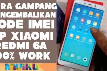 Cara Mengembalikan IMEI Xiaomi Redmi 6A