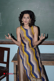 Actress Tapsee Panu Stills at Remonetise India Campaign in Chetna College Bandra West  0016.jpg