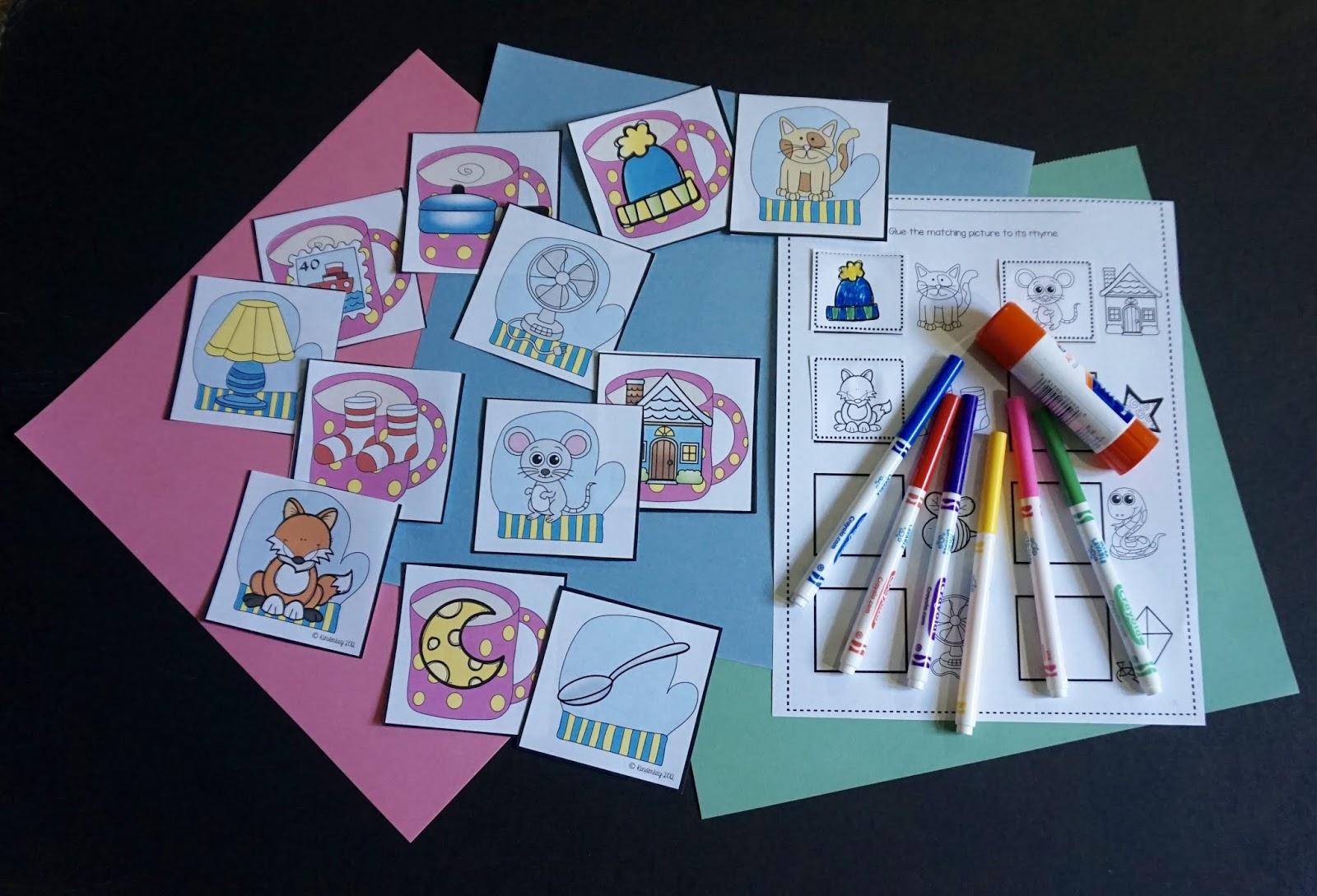 Winter Rhyming Game For Kindergarten