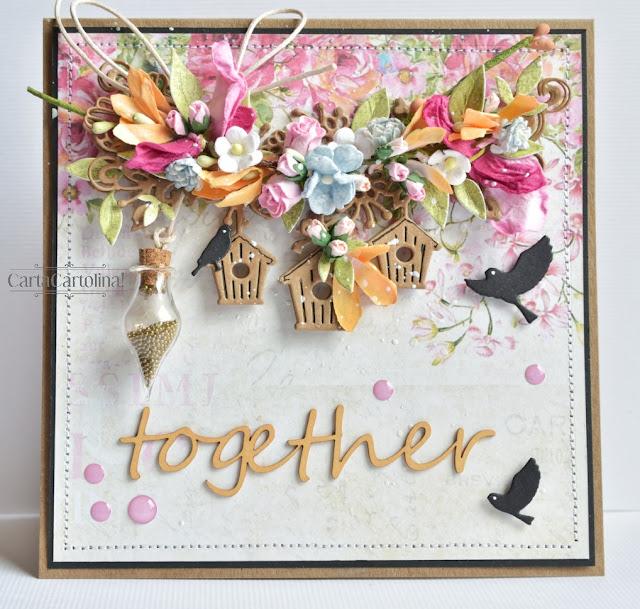 wiosenna kartka ślubna letnia