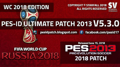 PES 2013 PES-ID Ultimate Patch v5.3.0 World Cup 2018 Update