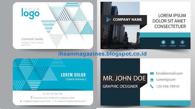 66 Contoh Desain Kartu Nama Super Kreatif Bisa di Edit Ihsan Magazine