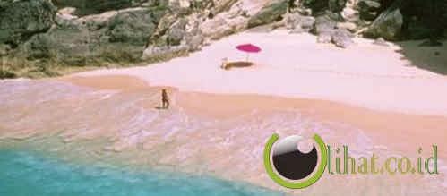 Pantai merah muda, Harbour Island, Bahamas